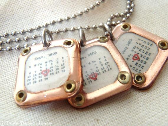 Jewellery Calendar Design : Best calenar necklace personalized calendar jewelry