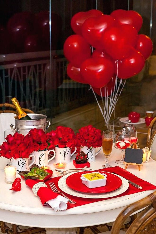 Table Decor Inspiration For Valentine Dinner Romantic Table