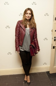 """The lovely Louise Redknapp with her 13"""" Oxblood Satchel"""