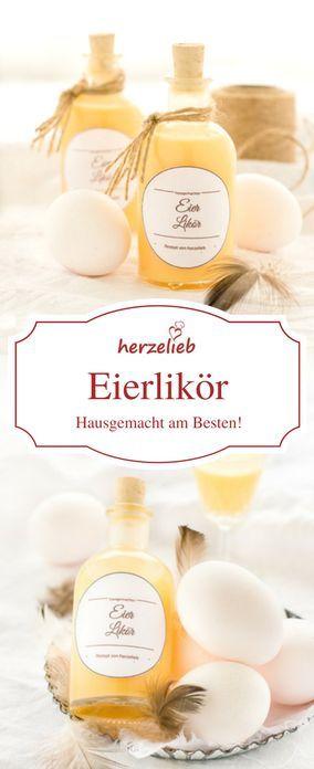 Eierlikör Rezept von herzelieb. Selbstgemachter Eierlikör ist so lecker!