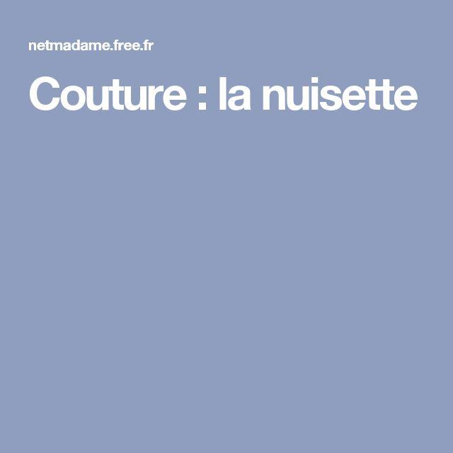 Couture : la nuisette