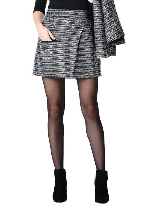 00e7a4d3ef I <3 this Stripe lurex jacquard mini skirt from eShakti | work ...