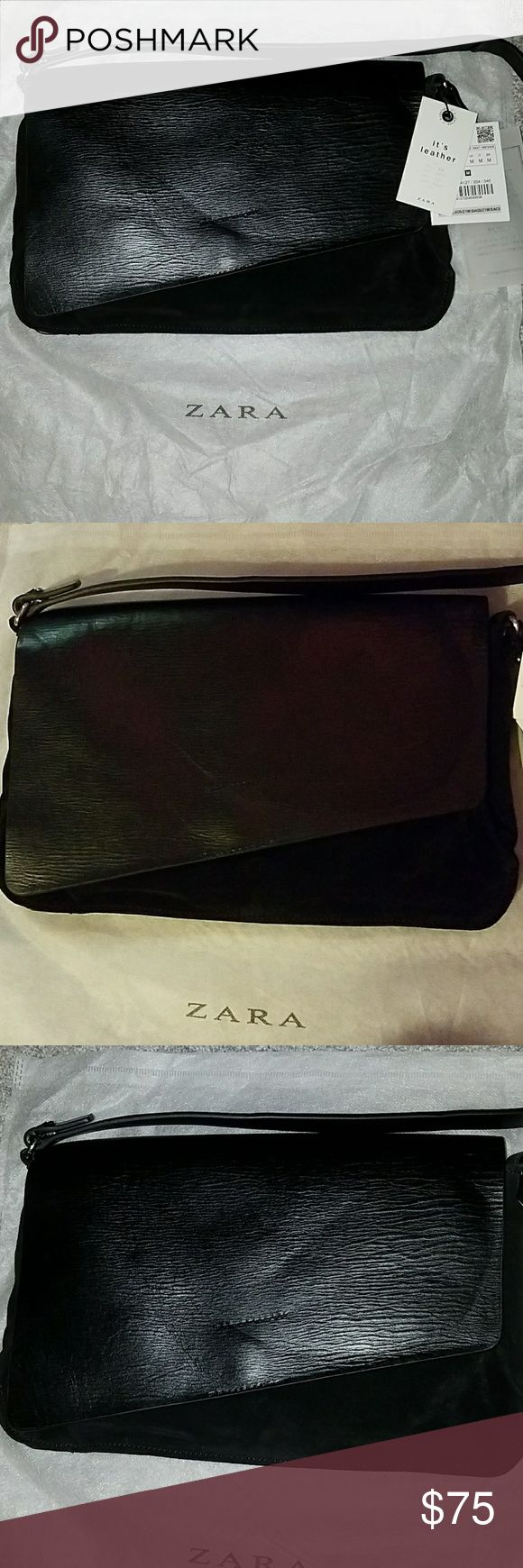 Leather Zara purse NWT Leather and suede Zara purse, still has tags and paper inside purse. Open to offers! Zara Bags Shoulder Bags