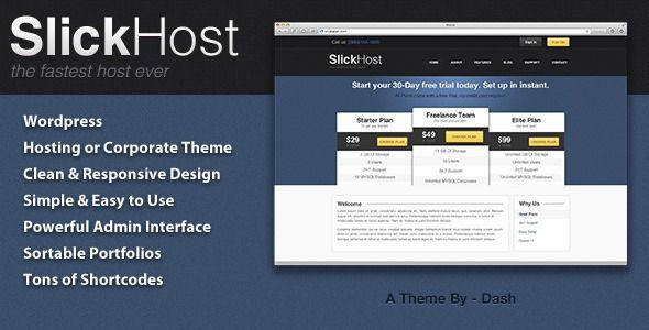 SlickHost - Hosting & Corporate Wordpress Theme   Technology   Hosting Wordpress Theme
