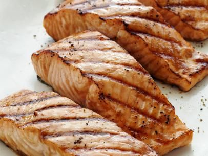 Miso-Ginger Marinated Grilled Salmon #Protein #MyPlate #Salmon: Food Network, Marines Grilled, Health Food, Healthy Grilled, Grilledsalmon, Coconut Oil, Healthy Recipes, Miso Ging Marines, Grilled Salmon Recipes