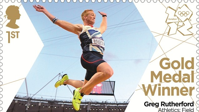 Greg Rutherford gold stamp
