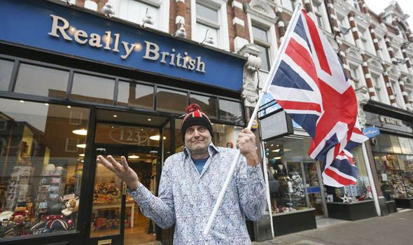Chris Ostwald outside his Really British shop