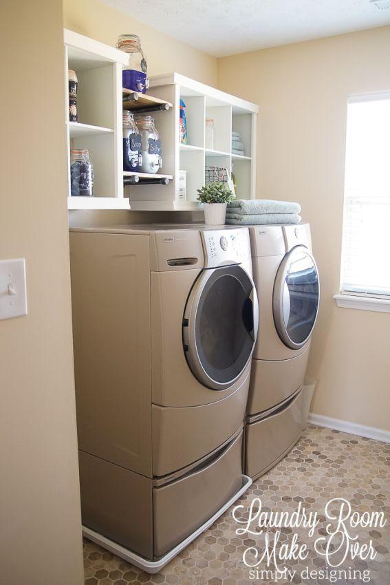 Laundry Room Shelving Makeover Best 127 Home