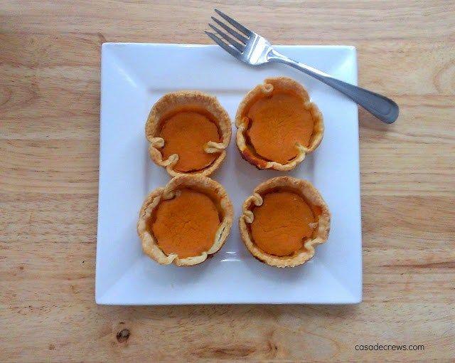 Mini Pumpkin Pie {Bites} - portion control and make ahead!