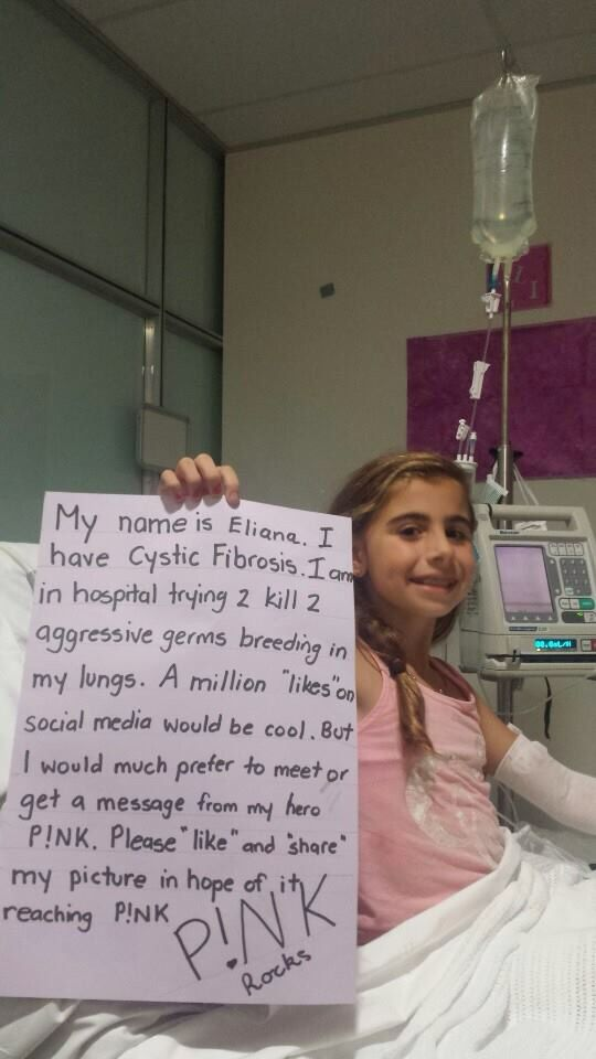 I have Cystic Fibrosis and you heart goes out to this little girl so come on people pin not for me for this little girl