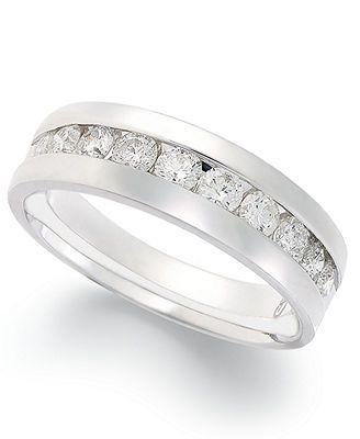 Diamond Ring, 14k White Gold Diamond Band (1 ct. t.w.)