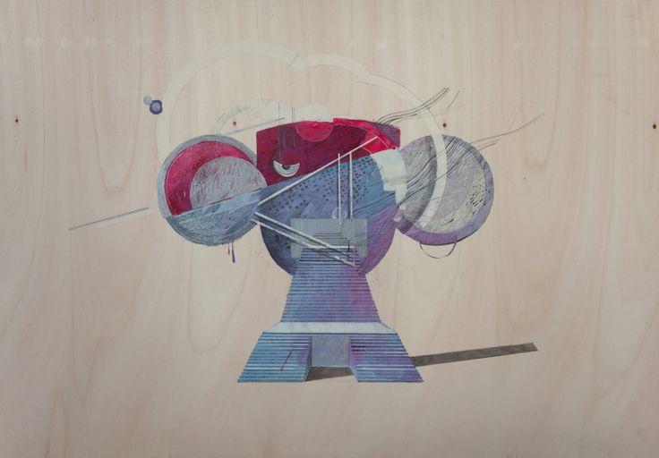 #KatarzynaBudka #guardian #ink #playwood #drawing ,  www.projectbu.com