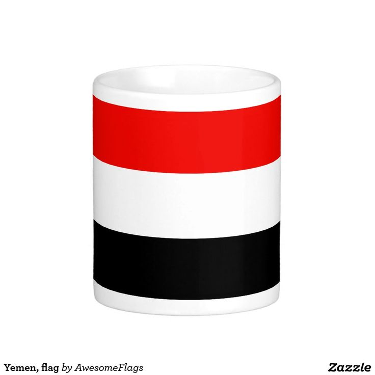 Yemen, flag basic white mug
