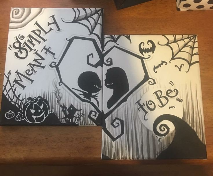 "Nightmare Before Christmas ""Simply Meant To Be"" Canvas Set"