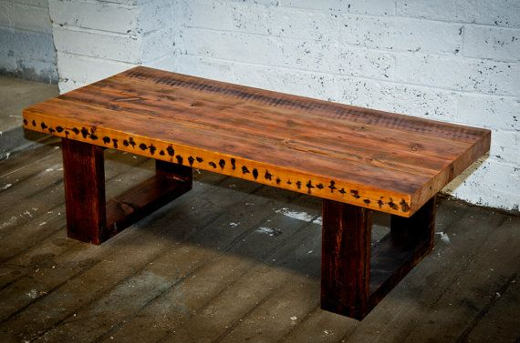 Chunky Industrial Coffee Table made from by BenmoreStudio on Etsy
