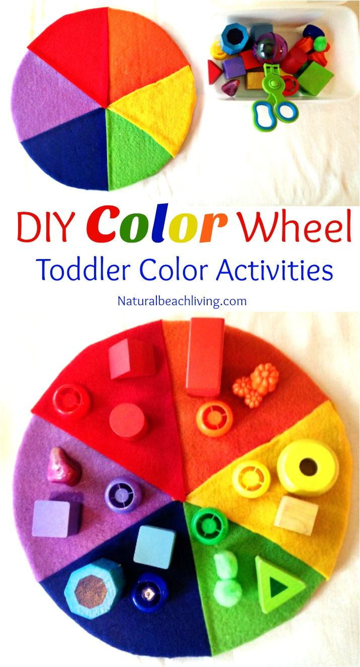Colour shades activities - Diy Color Wheel Teaching Colors To Toddlers Toddler Color Activities Lots Of Great