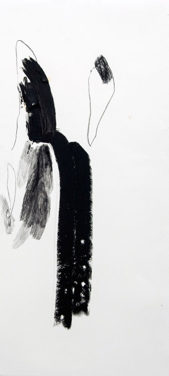 Lucy Jane Turpin, 'Untitled 33' (2016), Oil bar and charcoal on Arches,  57 x 24cm