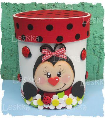 fun foam ladybug bucket