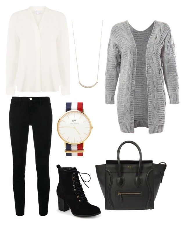 """""""Untitled #28"""" by devih on Polyvore featuring Sans Souci, Warehouse, Frame, Daniel Wellington, Journee Collection and Jennifer Meyer Jewelry"""