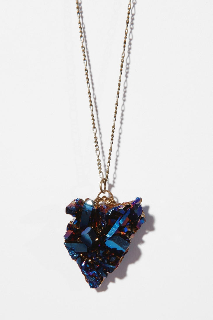 Mineral pendant necklace at Urban Outfitters- it's no longer available but I love it