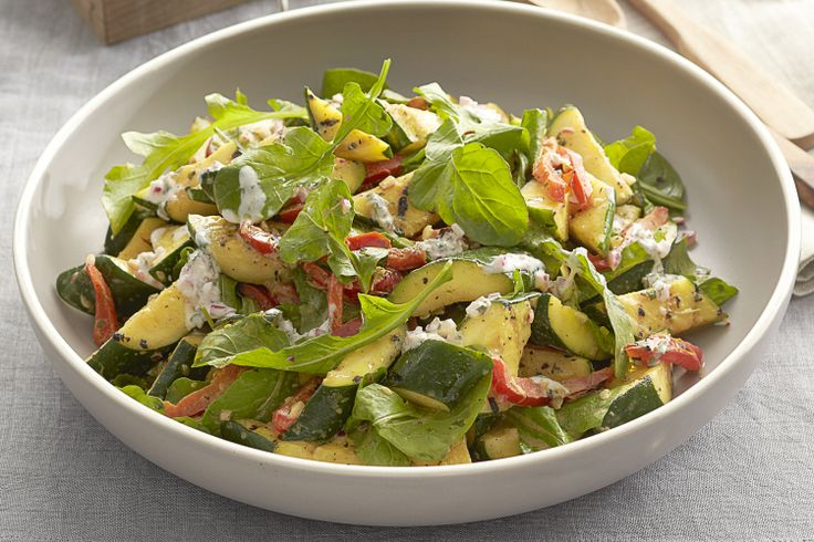 Curtis Stone shows us how to make a delicious salad with grilled zucchini. Perfect to make when zucchinis are in season.