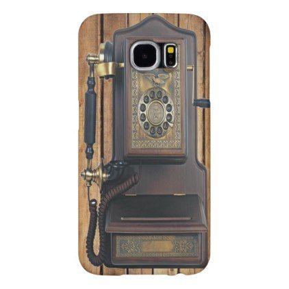 (vintage phone) Galaxy S6 Samsung Galaxy S6 Case - cool gift idea unique present special diy