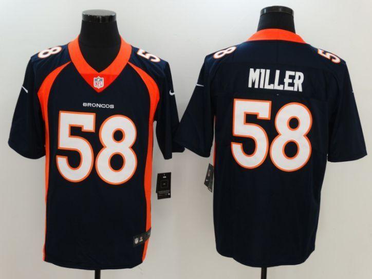 Men Denver Broncos 58 Miller Blue Nike Vapor Untouchable Limited NFL Jersey 431f37307