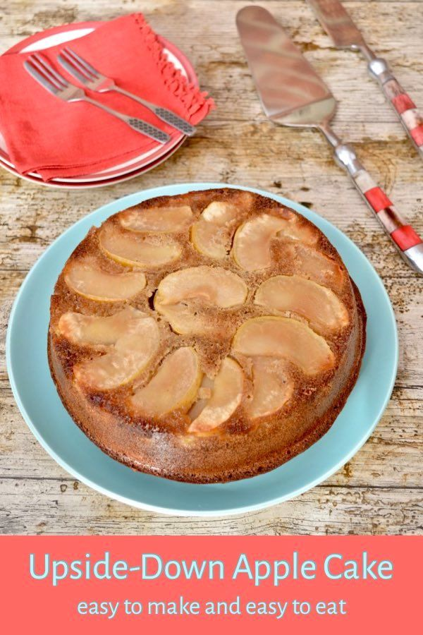 upside down apple cake flavoured with cider and cardamom applecake recipe autumnbakes upsidedowncake applebake healthy cake recipes apple recipes recipes pinterest