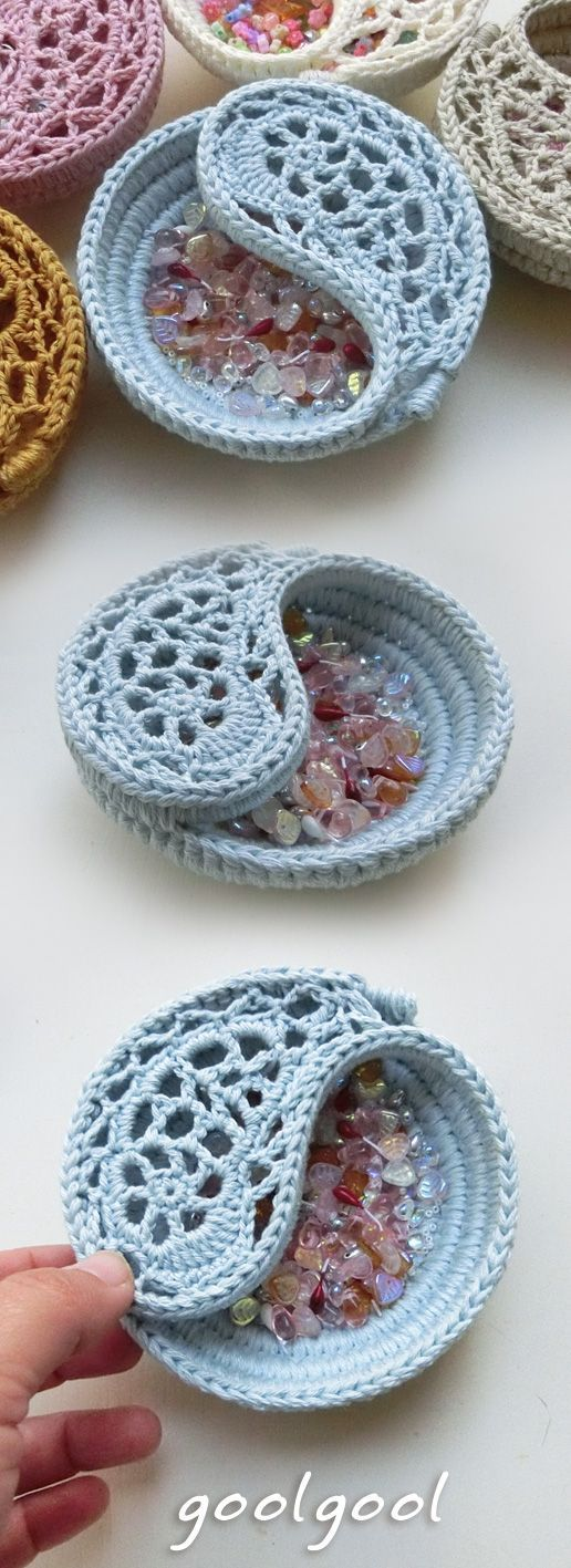 Yin yang dish pattern & finished product. 2 sizes by goolgool.