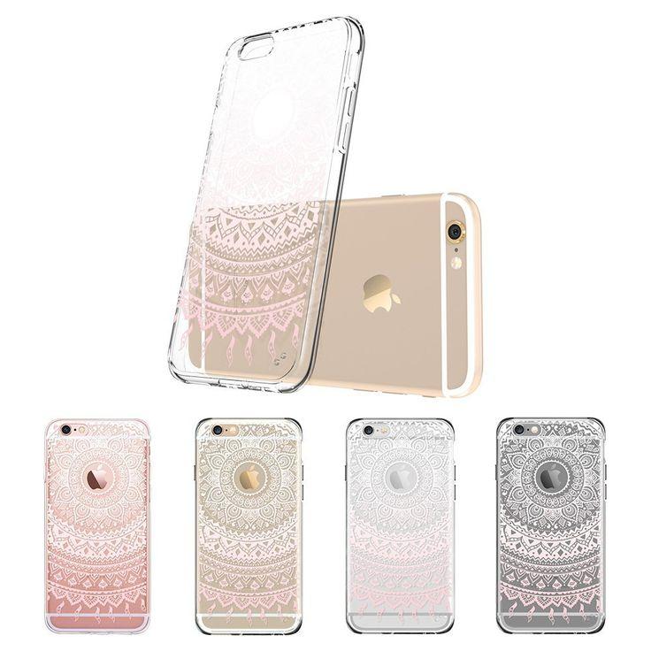 iPhone 6 / 6S Hülle, ESR® Weiche TPU Rahmen mit Hart PC Zurück Schutzhülle mit Bändsel Loch Leichtgewichtt Kratzfeste Stoßdämpfung Hülle für iPhone 6/6s (4,7 Zoll)- Manjusaka: Amazon.de: Elektronik