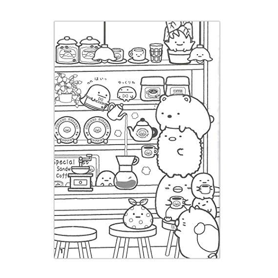 Image Result For Sumikko Gurashi Colouring Pages