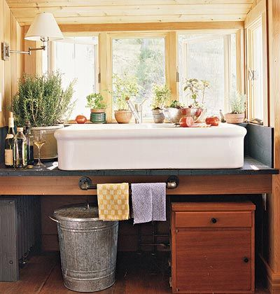 17 best images about sinks on pinterest trough sink porcelain sink and industrial - Kitchen sink in french ...