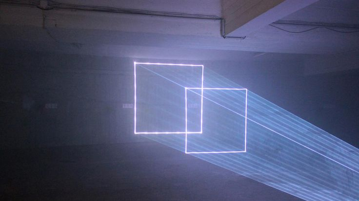 Portuguese Laser Artists Opened a Cosmic Portal in a Parking Garage - Creators