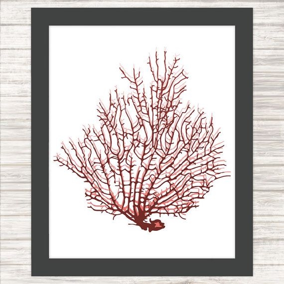 Sea Fan 4  Sealife  Wall Art Poster Printable by paper4download