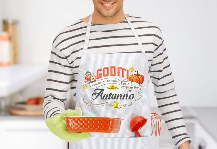 Behance :: Editing Autumn lettering This lettering piece was done for my client Camoscio d'Oro (delicious cheese). Once the lettering was done and approved I'd tried it in different settings and environments, always related with food topic. In this example mokup on a sexy male chef wearing an apron