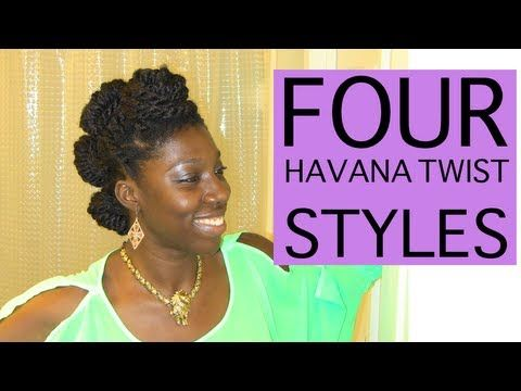 ▶ Four Easy Havana Twist Styles - YouTube