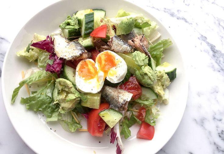 Weight Watchers Update: salade met sardientjes