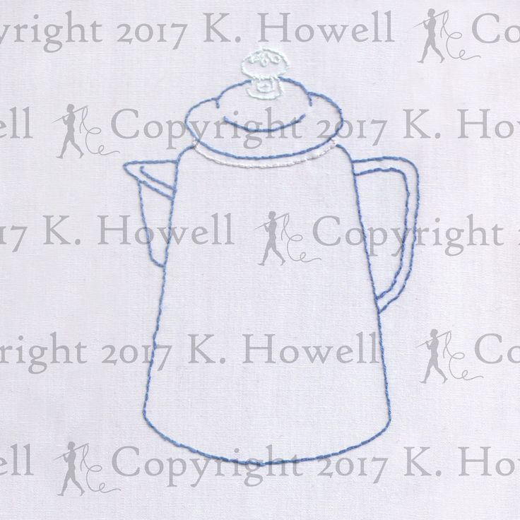 Coffee Embroidery Pattern, Vintage, Coffee, Percolator, Joe, Pot, Maker, Bean, Cup, Grind, Caffeine, Kitchen, Stove, Camping, Mug, PDF by ravenfrog on Etsy #CoffeePercolator