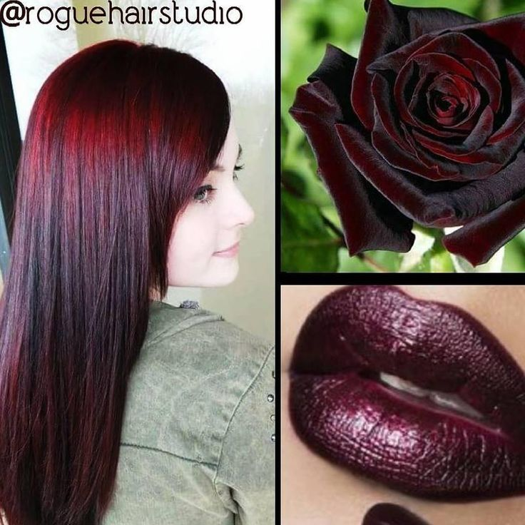 "The inspiration for this look is beautifully captured in the finished color created by Melissa Meacham, owner of Rogue Hair Studio just outside of Atlanta, Ga.  ""My client wanted to remove 13 years of over-the-counter black hair dye that she used growing up in France, and go red,"" Meacham says. ""She loved the idea of a black rose and a color like my fave lipstick, Black Metal Dhalia from OCC Liptar, that I was wearing at the time."" FORMULA Step 1: 3 Pravana Color Extractors"