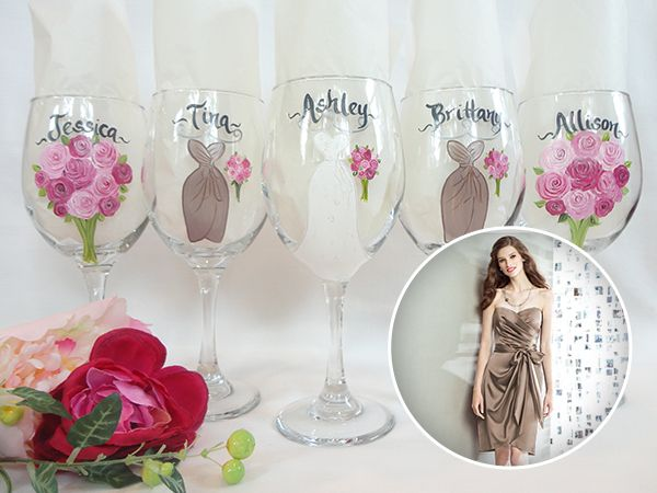 355 best images about Wedding Party Wine Glass @ www.samdesigns ...