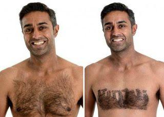 Un styliste pour les poils du torse [Angleterre Body Modification Cheveux Épilation Europe Hommes insolite Poils Royaume-Unis]