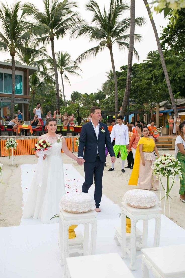 Beach Wedding In The Everlasting Place Of Love And Harmony Baan Samui Resort Package Ko