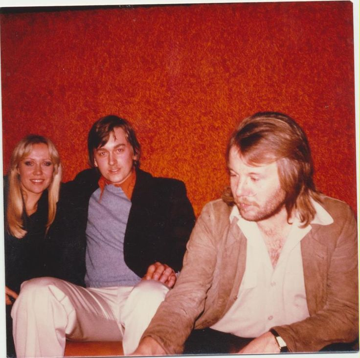 1979 Meet with ABBA in Switzerland (Leysin). Agnetha, Benny and Random