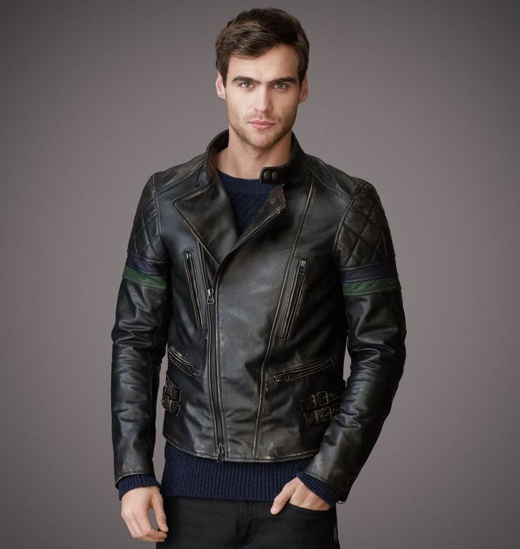 retrodrive:  .:Casual Male Fashion Blog:. (retrodrive.tumblr.com)current trends | style | ideas | inspiration | non-flamboyant Oh screw you Belstaff! You make this dead sexy piece, charge close to $3k for it and have no option of motorcycle armor for it? Way to sell out your heritage! Why?