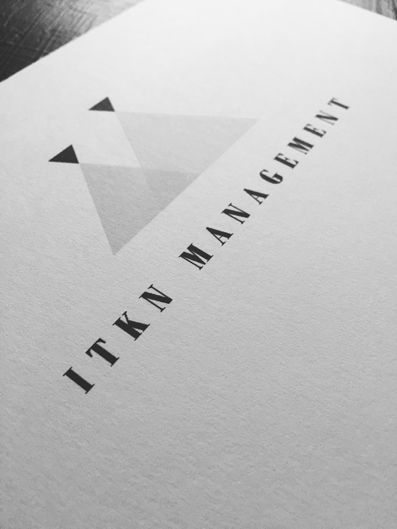 Logo for ITKN Management by Laura Itkonen