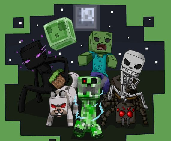 We rule the night -minecraft mobs Reply-unless I kill u first - steve