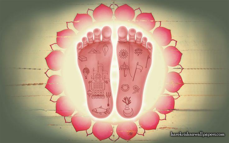 To view Lotus Feet wallpapers in difference sizes visit - http://harekrishnawallpapers.com/srimati-radharani-lotus-feet-artist-wallpaper-001/