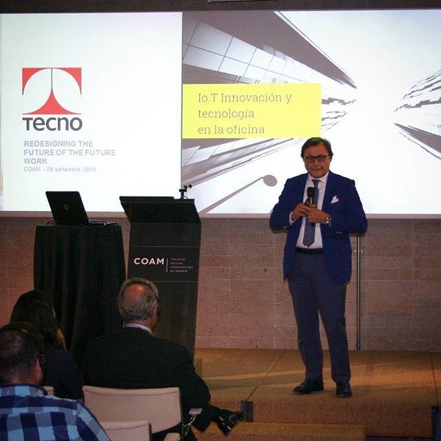 io.T | Innovación y tecnología en la oficina. Tecno present at COAM his new smart furniture system, designed to improve the well-being in the work spaces #tecnospa #io.T #coam #madrid #meeting