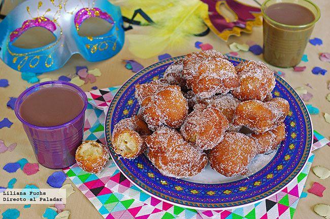 Receta de buñuelos tradicionales de Carnaval de Águilas. Con fotos del paso a paso, consejos y sugerencias de degustación. Recetas de Carnaval. Murcia
