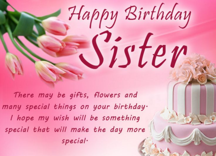 Best 25 Happy birthday for sister ideas – Happy Birthday Cards for My Sister